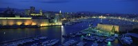 Old Port at dusk, Marseille, Bouches-Du-Rhone, Provence-Alpes-Cote Daze, France Fine-Art Print