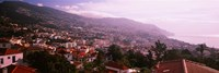 High angle view of a town, Fortela de Pico, The Pico Forte, Funchal, Madeira, Portugal Fine-Art Print