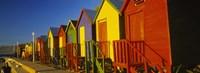 Beach huts in a row, St James, Cape Town, South Africa Fine-Art Print