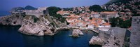 Town at the waterfront, Lovrijenac Fortress, Bokar Fortress, Dubrovnik, Croatia Fine-Art Print