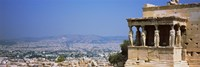 City viewed from a temple, Erechtheion, Acropolis, Athens, Greece Fine-Art Print