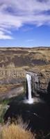 High angle view of a waterfall, Palouse Falls, Palouse Falls State Park, Washington State, USA Fine-Art Print