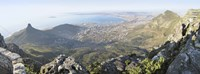 High angle view of a coastline, Table Mountain, Cape town, South Africa Fine-Art Print