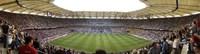 Crowd in a stadium to watch a soccer match, Hamburg, Germany Fine-Art Print