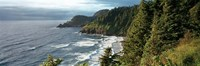 High angle view of a coastline, Heceta Head Lighthouse, Oregon, USA Fine-Art Print