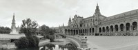 Fountain in front of a building, Plaza De Espana, Seville, Seville Province, Andalusia, Spain Fine-Art Print