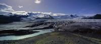 Glaciers in a lake, Vatnajokull, Fjallsarlon, Jokulsarlon Lagoon, Iceland Fine-Art Print