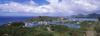Aerial view of a harbor, English Harbour, Falmouth Bay, Antigua, Antigua and Barbuda Fine-Art Print
