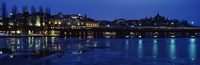 Waterfront at night, Stockholm, Sweden Fine-Art Print