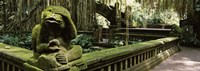 Statue of a monkey in a temple, Bathing Temple, Ubud Monkey Forest, Ubud, Bali, Indonesia Fine-Art Print