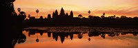 Silhouette of a temple, Angkor Wat, Angkor, Cambodia Fine-Art Print