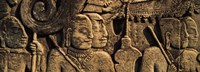 Sculptures in a temple, Bayon Temple, Angkor, Cambodia Fine-Art Print