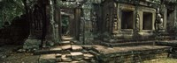 Ruins of a temple, Banteay Kdei, Angkor, Cambodia Fine-Art Print