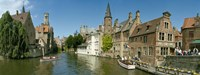 Buildings at the waterfront, Rozenhoedkaai, Bruges, West Flanders, Belgium Fine-Art Print