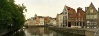 Buildings along a canal, Bruges, West Flanders, Belgium Fine-Art Print
