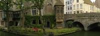 Buildings along channel, Bruges, West Flanders, Belgium Fine-Art Print