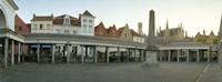 Facade of an old fish market, Vismarkt, Bruges, West Flanders, Belgium Fine-Art Print