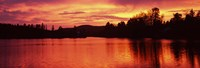 Lake at sunset, Vermont, USA Fine-Art Print