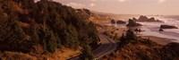 Highway along a coast, Highway 101, Pacific Coastline, Oregon, USA Fine-Art Print