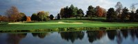 Pond in a golf course, Westwood Golf Course, Vienna, Fairfax County, Virginia, USA Fine-Art Print