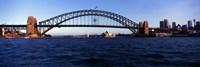 Bridge across the sea, Sydney Harbor Bridge, McMahons Point, Sydney Harbor, Sydney, New South Wales, Australia Fine-Art Print
