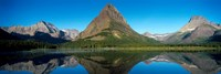 Reflection of mountains in Swiftcurrent Lake, Many Glacier, US Glacier National Park, Montana, USA Fine-Art Print