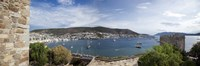 View of a harbor from a castle, St Peter's Castle, Bodrum, Mugla Province, Aegean Region, Turkey Fine-Art Print