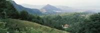 Buildings in a valley, Transylvania, Romania Fine-Art Print