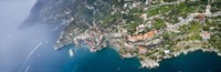 Aerial view of a town, Atrani, Amalfi Coast, Salerno, Campania, Italy Fine-Art Print
