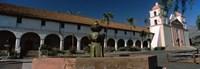 Fountain at a church, Mission Santa Barbara, Santa Barbara, California, USA Fine-Art Print