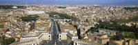 Overview of the historic centre of Rome from the dome of St. Peter's Basilica, Vatican City, Rome, Lazio, Italy Fine-Art Print