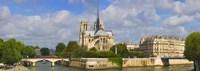 Cathedral at the riverside, Notre Dame Cathedral, Seine River, Paris, Ile-de-France, France Fine-Art Print