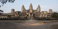 Facade of a temple, Angkor Wat, Angkor, Siem Reap, Cambodia Fine-Art Print