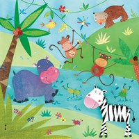Jungle Friends I Fine-Art Print