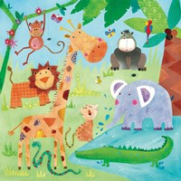 Jungle Friends II Fine-Art Print