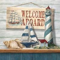 Welcome Aboard Framed Print