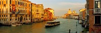 Vaporetto water taxi in a canal, Grand Canal, Venice, Veneto, Italy Fine-Art Print