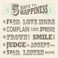 Five Ways to Happiness Fine-Art Print