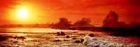 Waves breaking on rocks in the ocean, Oahu, Hawaii Fine-Art Print