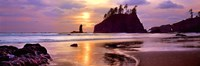 Sunset at Second Beach, Olympic National Park, Washington State Fine-Art Print