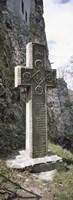 Stone cross at a castle, Bran Castle, Brasov, Transylvania, Mures County, Romania Fine-Art Print