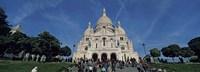 Crowd at a basilica, Basilique Du Sacre Coeur, Montmartre, Paris, Ile-de-France, France Fine-Art Print