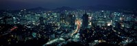 Aerial view of a city, Seoul, South Korea 2011 Fine-Art Print