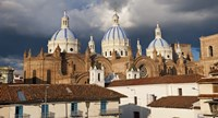 Low angle view of a cathedral, Immaculate Conception Cathedral, Cuenca, Azuay Province, Ecuador Fine-Art Print