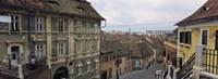 Buildings in a city, Town Center, Big Square, Sibiu, Transylvania, Romania Fine-Art Print