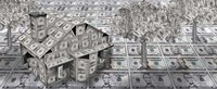 Dollar house with money tree Fine-Art Print