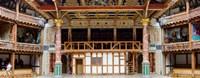 Interiors of a stage theater, Globe Theatre, London, England Fine-Art Print