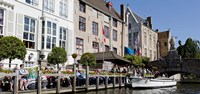Tourists at the canalside, Bruges, West Flanders, Belgium Fine-Art Print