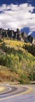 Winding road passing through mountains, Jackson Guard Station, Ridgway, Colorado, USA Fine-Art Print