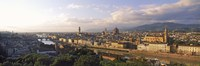 Panoramic overview of Florence from Piazzale Michelangelo, Tuscany, Italy Fine-Art Print